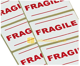 Fragile Packing Box Labels