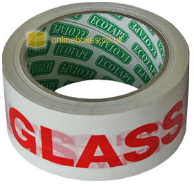 GLASS WITH CARE Adhesive Packing Tape