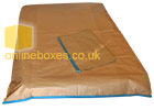 Double Matress Brown Cover for Moving House