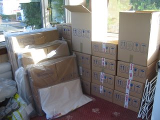Box Packs and Stacked Cardboard Boxes