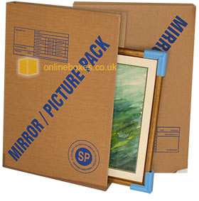 Boxes For Moving Pictures Mirrors Cardboard Picture Frame