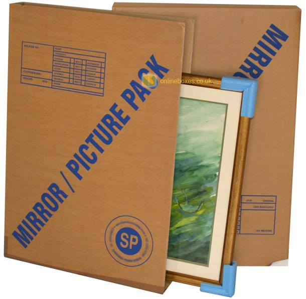 Boxes For Moving Pictures Mirrors Cardboard Picture Frame Packing