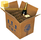 Cardboard Wine Bottle Moving Box